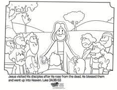 Small Picture Kids coloring page from Whats in the Bible showing Jesus on the