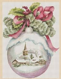 Christmas Cross Stitch Charts Christmas Cross Stitch Chart Christmas Ball Snow Globe No
