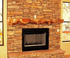 image of rustic fireplace mantel for