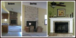 reface brick fireplace with stone fireplace surround installation cost to reface with stone faux resurface brick fireplace with stone veneer