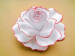 Rose Flower With Paper Giant White Paper Rose White Flower Blooms Extra Large Paper Rose