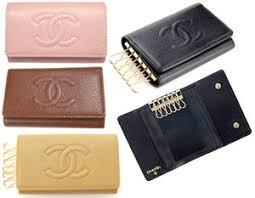 chanel keychain wallet. chanel chanel a13502 6-key case caviar skin 13502 key ring black nero pink beige keychain wallet