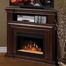 dimplex montgomery 47 inch electric fireplace corner media console glass embers espresso