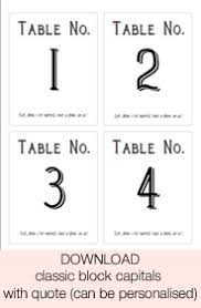 Table Labels Template Free Download Printable Wedding Table Numbers Stickers For