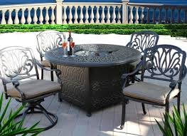 elisabeth 5pc outdoor dining set with 52 round fire pit dining table