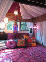 Gypsy Decor Bedroom Want A Room With One Giant Bed Curtains On The Walls And A Big Tv