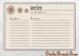 Free Recipe Card Templates For Word Recipes Card Templates Word CookingBaking Pinterest Recipe 5
