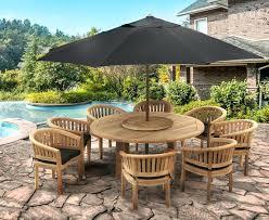 titan 8 seat set patio table seater outdoor furniture covers garden teak wooden dining