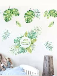 room decoration stickers living room decorative sticker style leaves pattern wall sticker room decor self adhesive wall stickers