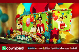 Popup Book Template Happy Birthday Pop Up Book After Effects Template Fluxvfx