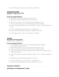 Sample Of Waitress Resume Custom Waiter Resume Sample Senior Waiter Cv Sample Yumdesignme