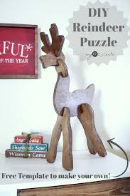 how to make a diy wooden reindeer puzzle for your holiday decor or for the kids