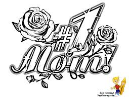 Coloring Pages For Mothers Day Lezincnyccom