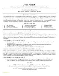 Construction Resume Templates And Construction Superintendent Resume