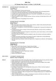 Senior Project Engineer Resume Samples | Velvet Jobs