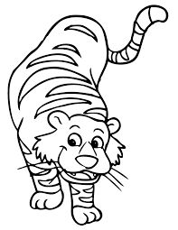 baby tiger clipart black and white. Exellent Tiger Tiger Clip Art Black And White Coloring Pages And Book   UniqueColoringPages Baby Clipart White
