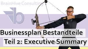 2 Businessplan Executive Summary Zusammenfassung Der