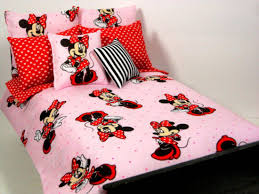 minnie mouse toddler bedding red