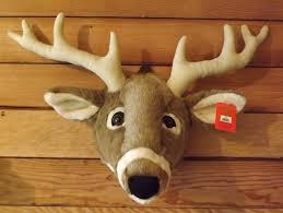 White Tail Deer Head  Plush Wall Mount Trophy Deer Head