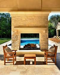 image of outdoor see through fireplace