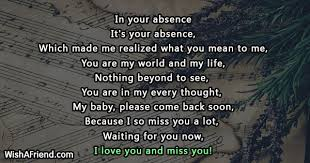 Missing You Poems For Wife Stunning Missing My Wife