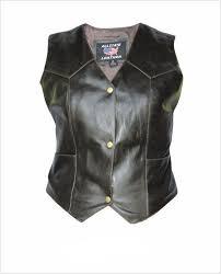 las retro brown leather vest