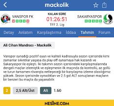 TFF 2. Lig maçları Mackolik Anlatım'da