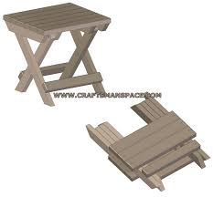 innovative small folding wooden table camping stool plan