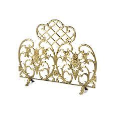 antique gold fireplace screen