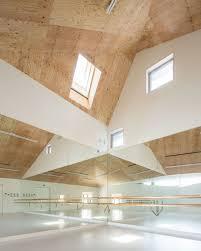 Ballet Studio Design Y M Design Office Caps Ballet School With Shell Like Roof In