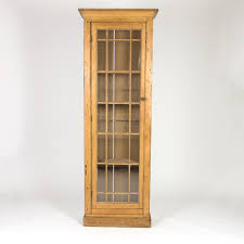 garden court antiques san francisco tall and narrow charming irish pine display cabinet with