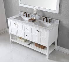 White Double Bathroom Vanities Virtu Usa Winterfell 60 Double Bathroom Vanity Set In White