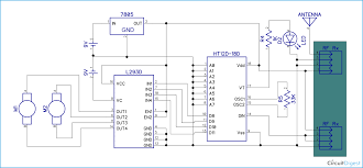 rf controlled robot project and circuit diagrams for rf rf controlled robot circuit diagram receiver