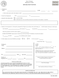 Separation Notice Employee Separation Pdf