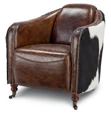 rustic leather dining chairs. Rustic Leather Chairs Fink Brown Hair Hide Upholstered Arm Chair Kathy Kuo Home Dining H