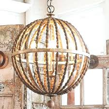magnificent amelia indoor outdoor wood bead chandelier photo design