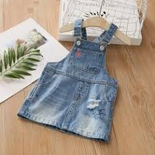 Baby Denim Belt Skirt <b>New Girls</b>'and Children's Cartoon <b>Dress</b> 2019 ...