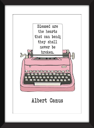 Amazoncom Albert Camus Blessed Are The Hearts Quote Unframed