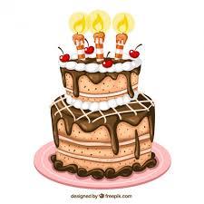 Birthday Cake Illustration Vector Free Download