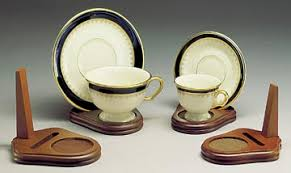 Tea Cup Display Stand Cup And Saucer Holders Wood Teacup And Plate Stand Set Of 100 15