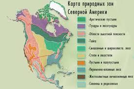 Конспект урока по Географии Природные зоны Северной Америки класс