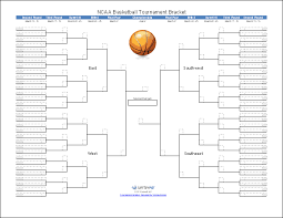Ncaa Tournament Bracket Scores Tournament Bracket Templates For Excel 2018 March Madness Bracket