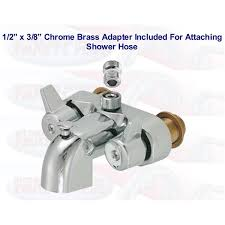 faucet shower adapter chrome clawfoot tub add a shower bathcock diverter faucet with shower hose adapter