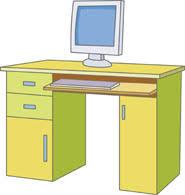 computer desk clipart. Exellent Computer In Computer Desk Clipart O