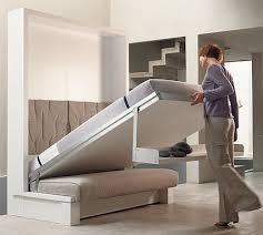 fold up bed, turns into chair and shelf