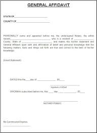 Affidavit Statement Of Facts Fascinating Affidavit Form Template Free Word Templates Affidavit Templates