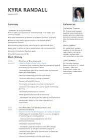 Director Of Development Resume samples