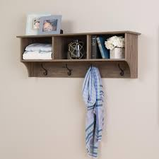 Traditional Oak Finish Coat Rack Prepac Drifted Gray Wall Mounted Coat RackDEC100 The Home Depot 81