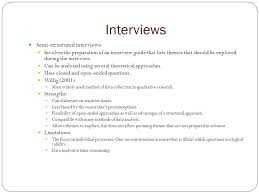 advantages of structured interviews qualitative research interviews chapter interviews semi