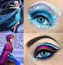 frozen frozen eye halloeen makeup